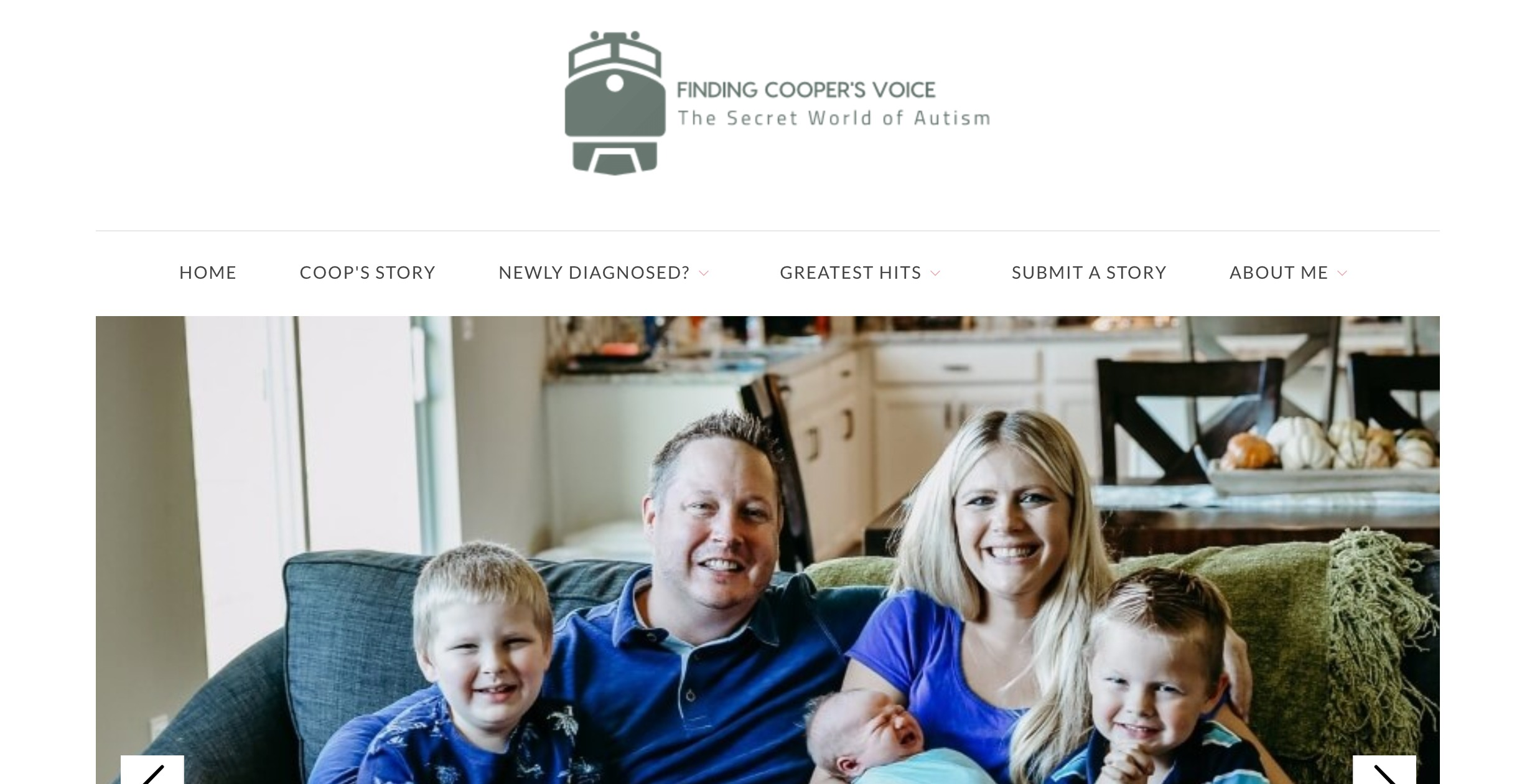 Finding Cooper's Voice Blog